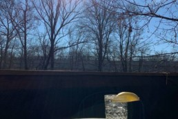 lemon-water on the deck at The Willowtree Inn, Stroudsburg, PA
